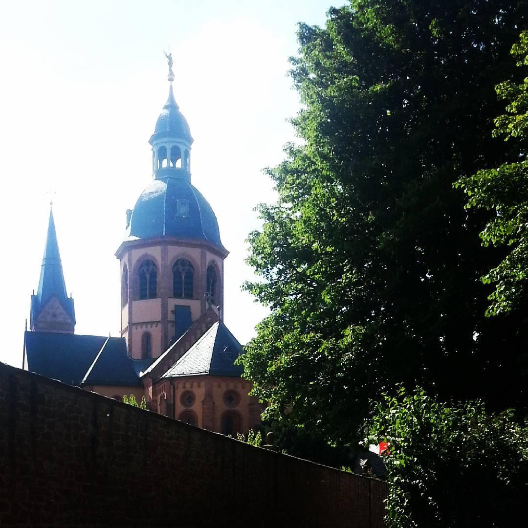 Die Rückseite der Basilika vom Mainufer aus betrachtet