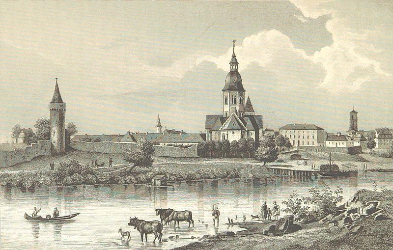 mit einem Stahlstich von Fritz Bamberger aus dem Jahr 1845
