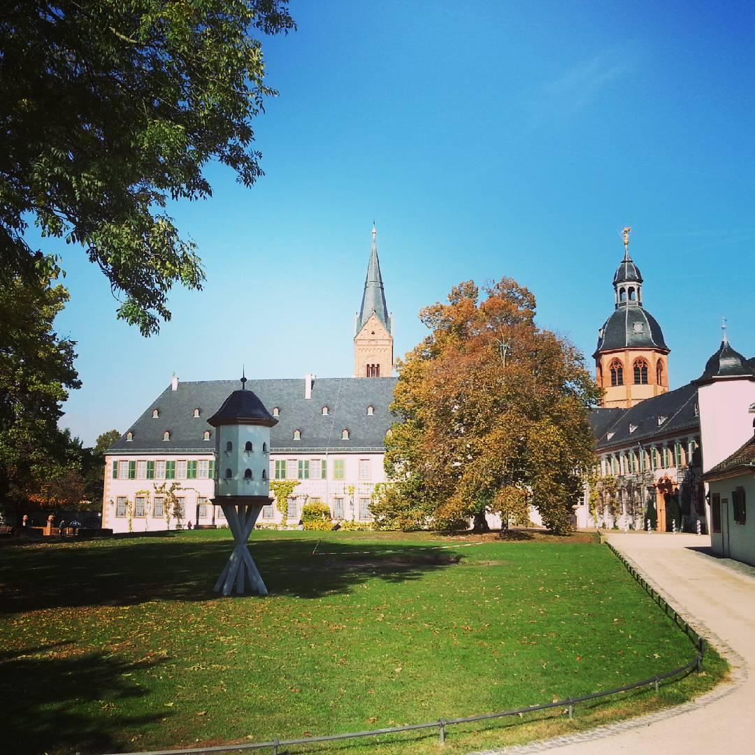 Auch im Klostergarten sieht man den Herbst