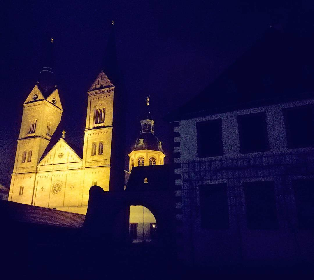 Ein weiterer Eindruck aus dem Klostergarten bei Nacht