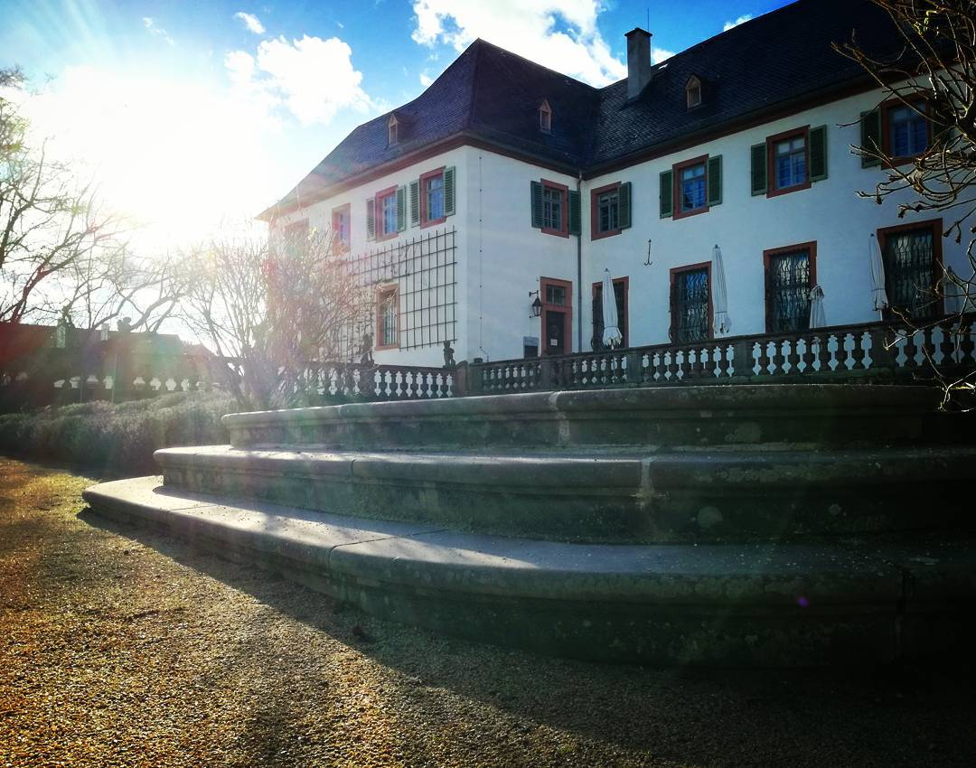 Eine Treppe im Konventgarten im Gegenlicht - ➀ Sellestadt.de