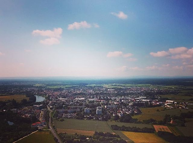 Seligenstadt von oben in Blickrichtung Süden