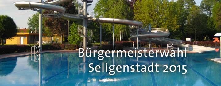 Standpunkte der b rgermeisterkandidaten zum schwimmbad in for Seligenstadt schwimmbad