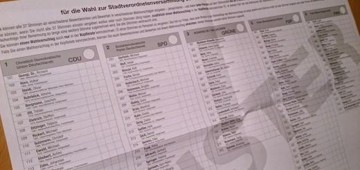 Musterwahlzettel für Seligenstadt